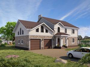Проект дома с мансардным этажом № 002