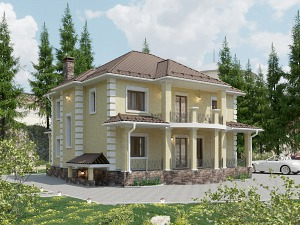 Проект дома с цокольным этажом № 003