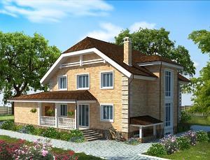 Проект дома с цокольным этажом № 004
