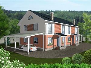 Проект двухэтажного дома № 005