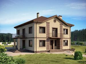 Проект двухэтажного дома № 006.02