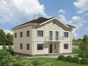 Проект двухэтажного дома № 006.01