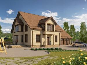 Проект дома с мансардным этажом № 007