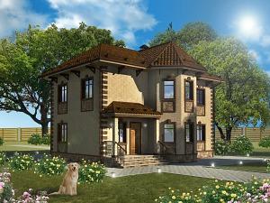 Проект двухэтажного дома № 008