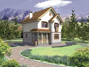 Проект двухэтажного дома № 009