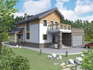 Проект дома с мансардным этажом № 010