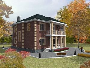 Проект двухэтажного дома № 011
