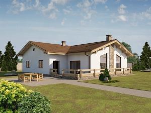 Проект одноэтажного дома № 014