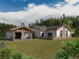 Проект одноэтажного дома № 016