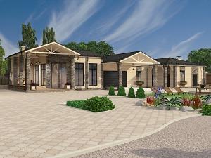 Проект одноэтажного дома № 018