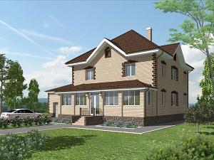 Проект двухэтажного дома № 020