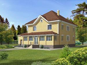 Проект двухэтажного дома № 019