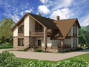 Проект дома с мансардным этажом № 022.02