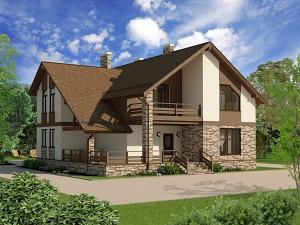 Проект дома с мансардным этажом № 022.01