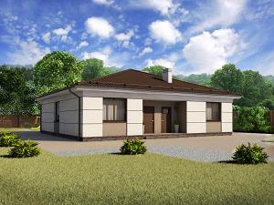 Проект одноэтажного дома № 023