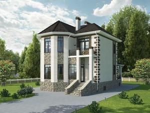 Проект дома с цокольным этажом № 024