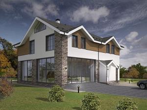 Проект дома с мансардным этажом № 025