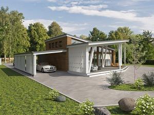 Проект одноэтажного дома № 026