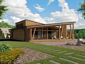 Проект одноэтажного дома № 027