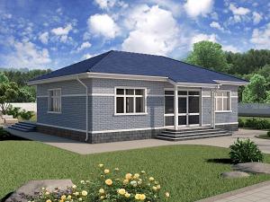 Проект одноэтажного дома № 028.01