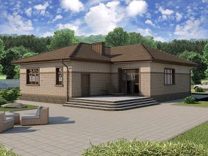 Проект одноэтажного дома № 028.02