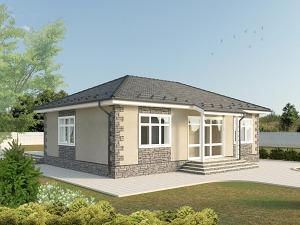 Проект одноэтажного дома № 028.03