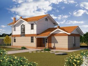 Проект двухэтажного дома № 029