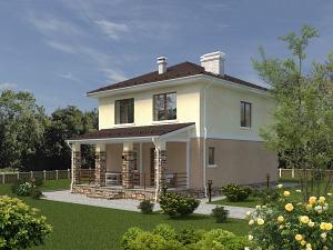 Проект двухэтажного дома № 030.02