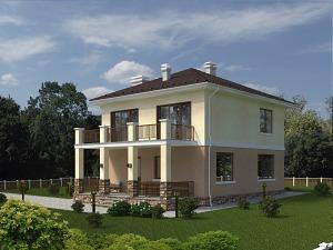 Проект двухэтажного дома № 030.03