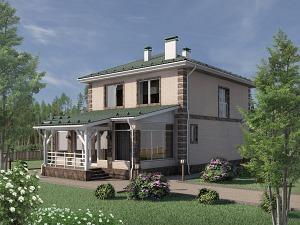 Проект двухэтажного дома № 030.04