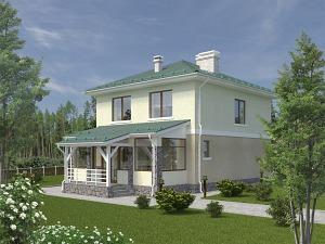 Проект двухэтажного дома № 030.01