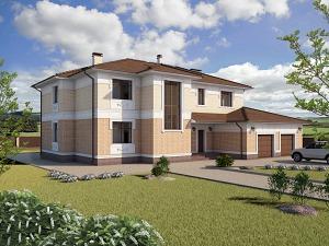 Проект дома с цокольным этажом № 031