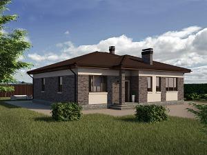 Проект одноэтажного дома № 032.03