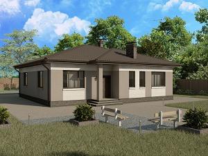Проект одноэтажного дома № 032.02