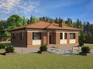 Проект одноэтажного дома № 032