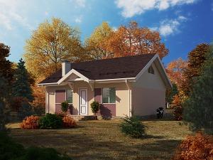 Проект одноэтажного дома № 033.01