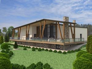 Проект дома с цокольным этажом № 034.01