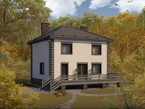 Проект дома с цокольным этажом № 035.01