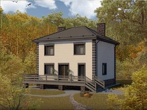 Проект двухэтажного дома № 035.02