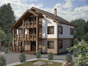 Проект дома с мансардным этажом № 036