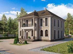 Проект двухэтажного дома № 037.01
