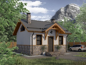 Проект одноэтажного дома № 038.01