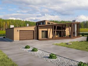 Проект одноэтажного дома № 039