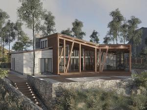 Проект одноэтажного дома № 040