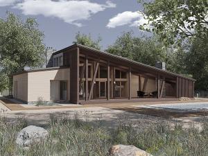 Проект одноэтажного дома № 041