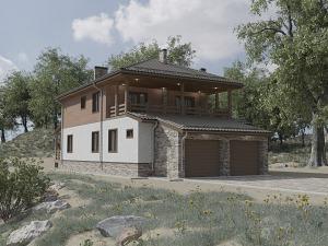 Проект дома с цокольным этажом № 042.01