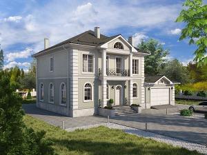 Проект двухэтажного дома № 043.01