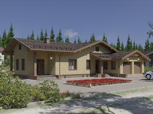 Проект одноэтажного дома № 044.01