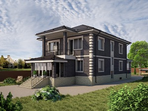 Проект дома с цокольным этажом № 045.01