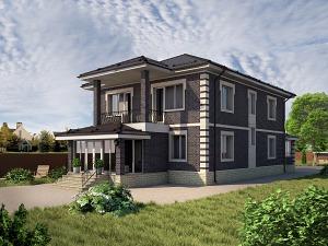 Проект двухэтажного дома № 045.02